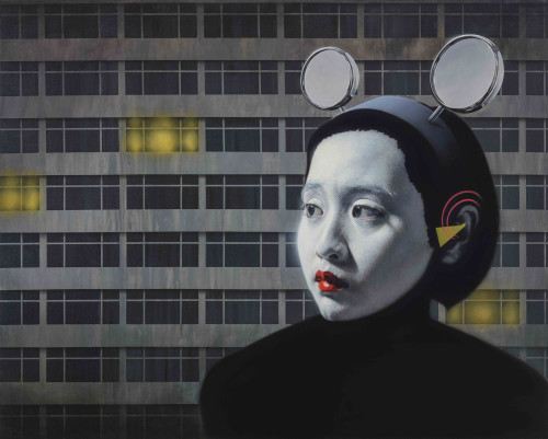 Lin Hung-Hsin Moonlight in the City 2015 Oil on canvas 130.5×162.5 cm