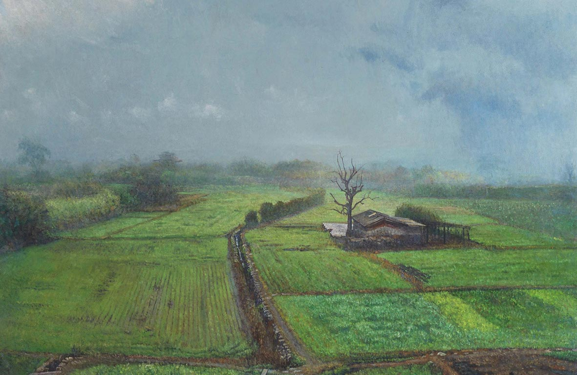 Liu De-Lang Spring Rain 1998-2013 Oil on canvas  130x162cm