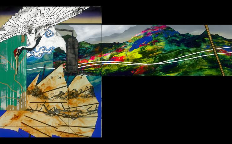 (PNG)周代焌_補子中的風景_2019_壓克力畫布_116.5×90.5cm_小拷貝