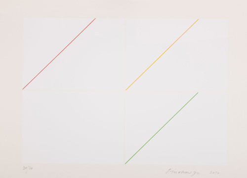 Richard LIN Composition - White 2010 Print 73.5x104.5cm 87×117×6cm (with frame) ed. 30/30