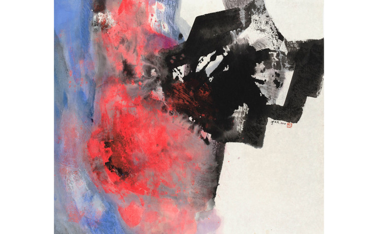 LEE Chung-Chung  Half Red  2014  Ink and color on paper  94.5x104cm