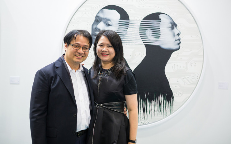 President of Liang Gallery, Yu Yen-Liang & Director of Liang Gallery, Claudia Chen