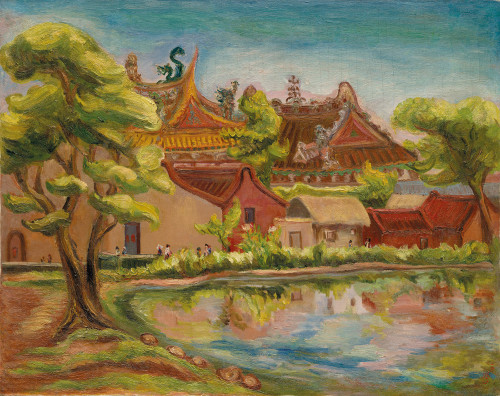 Chen Cheng-po  Waterside 1939 Oil on canvas  72.5x91cm