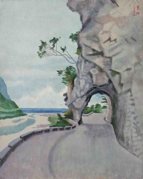 CHEN Houei-Kuen Tailugeh 1959 Glue-pigment 73×58.5cm 96.5×79cm (with frame)