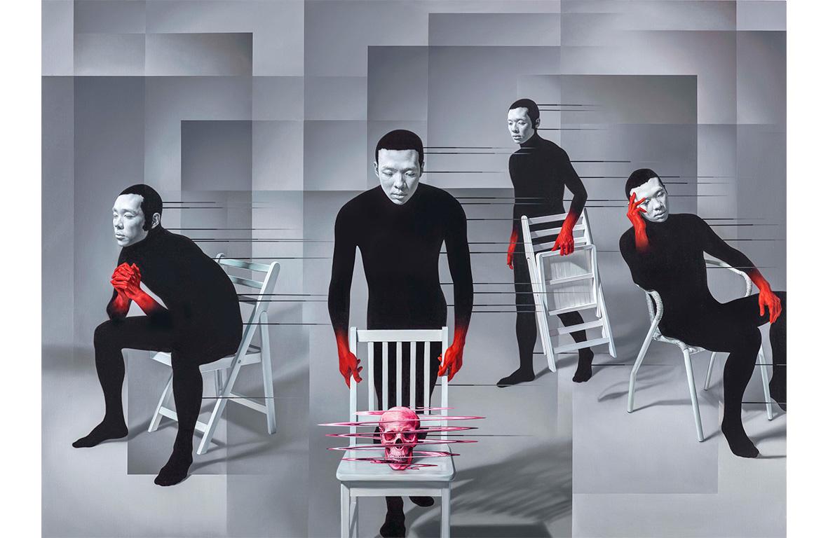 林宏信 椅子上的虛空 2016 油彩、畫布  170×236cm(120S)
