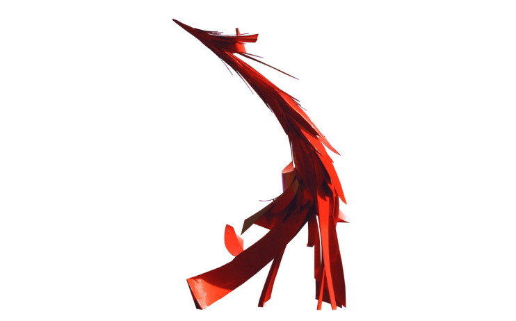 YANG Yu-Yu Advent of the Phoenix 1970 Paint on stainless steel 300×400×230cm