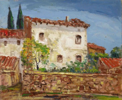 Yang San-Lang Farmhouse in Spain  Period Unknown Oil on canvas  50.2x60.5 cm