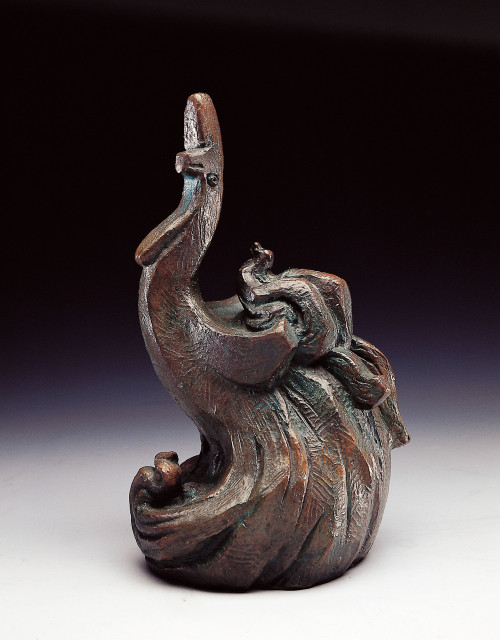 YANG YU-YU   Phoenix Rising  1981  Bronze   92x46x52.5cm