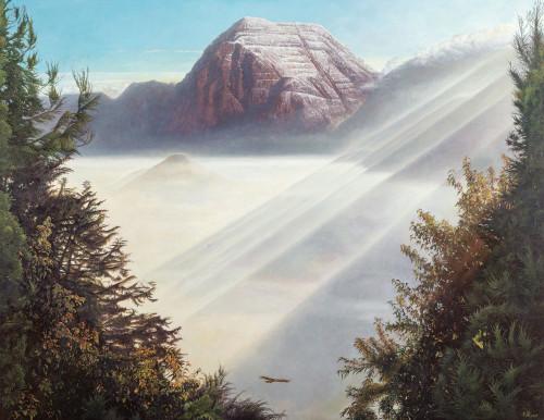 劉得浪  雪山尊容 2017 油彩畫布  200x259cm