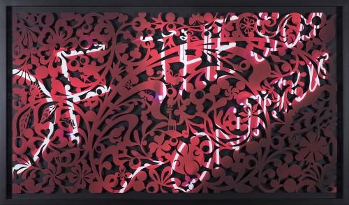 吳耿禎  影像剪紙系列─夜的敘事 2015 壓宣影布輸出 100×180cm