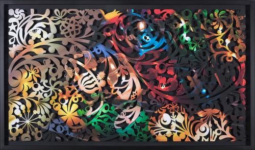 吳耿禎  影像剪紙系列─悟透色彩 2015 壓宣影布輸出 100×180cm
