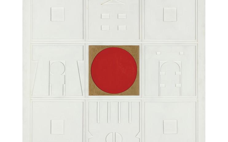 廖修平 Liao Shiou-Ping_晝Day_壓克力、木板浮雕Acrylic on wood_1973