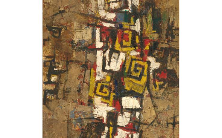 廖修平Liao Shiou-Ping_作品A Work A_油彩、畫布Oil on canvas_1962