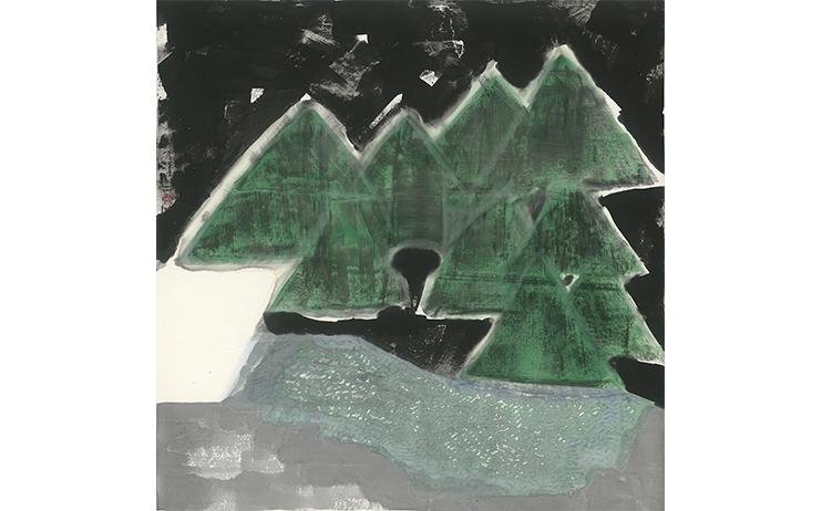 李重重 LEE Chung-Chung_島嶼風情 Island style_水墨設色紙本 Ink and color on paper_124x125cm, 2017