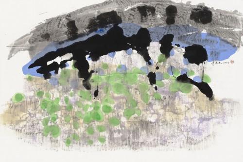 李重重  生活的牧歌  2013  水墨設色、紙本  59x90.4cm