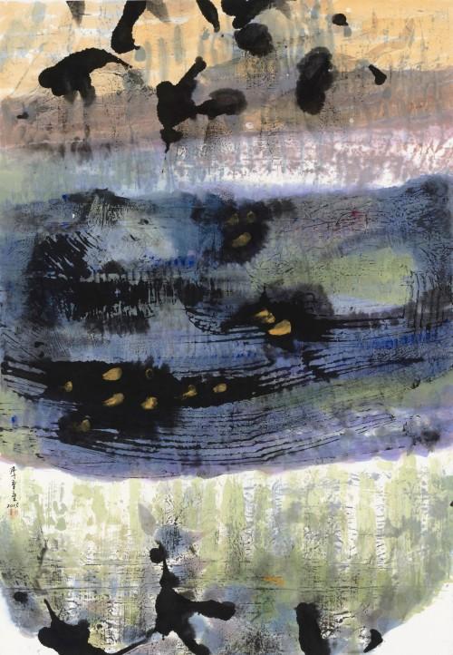 李重重  隨風的歌  2015  水墨設色、紙本  99.2x69cm