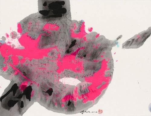 李重重  香頌之二  2012  水墨設色、紙本  34.7x45.6cm