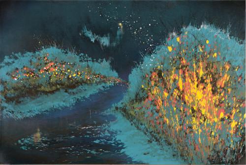 游雅蘭  沿途的風景  2016  版畫/木刻油印凸版  60x90cm