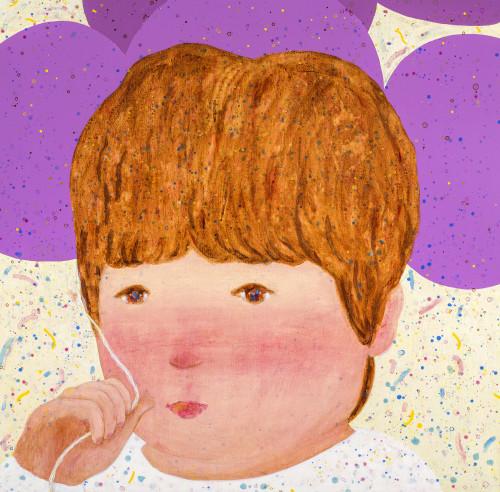 羅喬綾   紫色氣球  2017  壓克力畫布   140x143cm