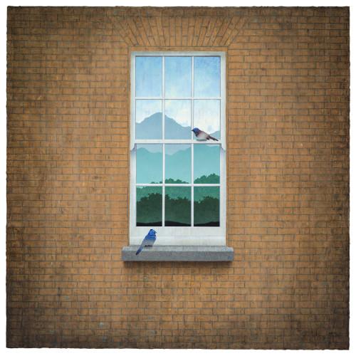 胡朝聰 棲域接境—居所 2016 油彩、畫布板  152.5x152.5cm