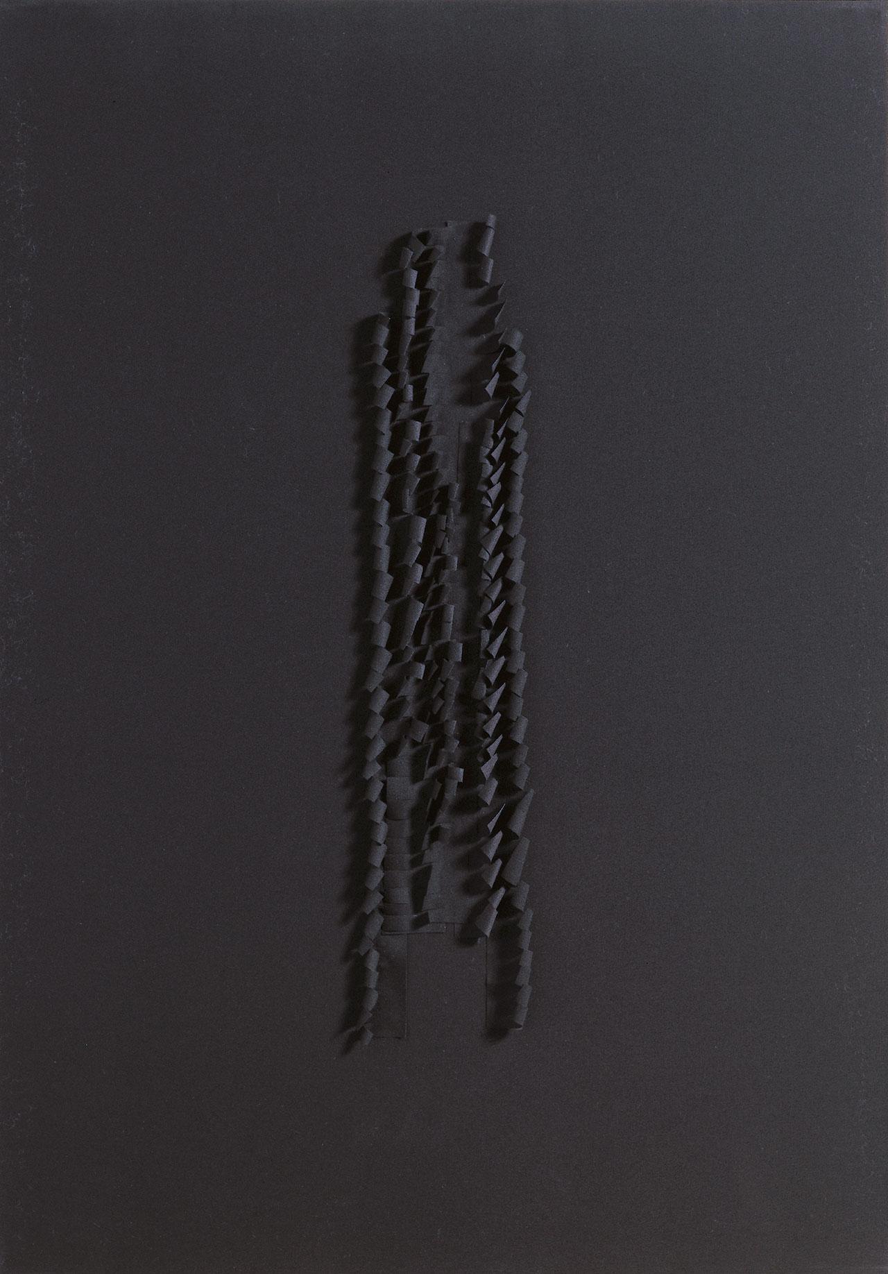 朱為白 唯我-黑 綿 84✕59x3.5cm