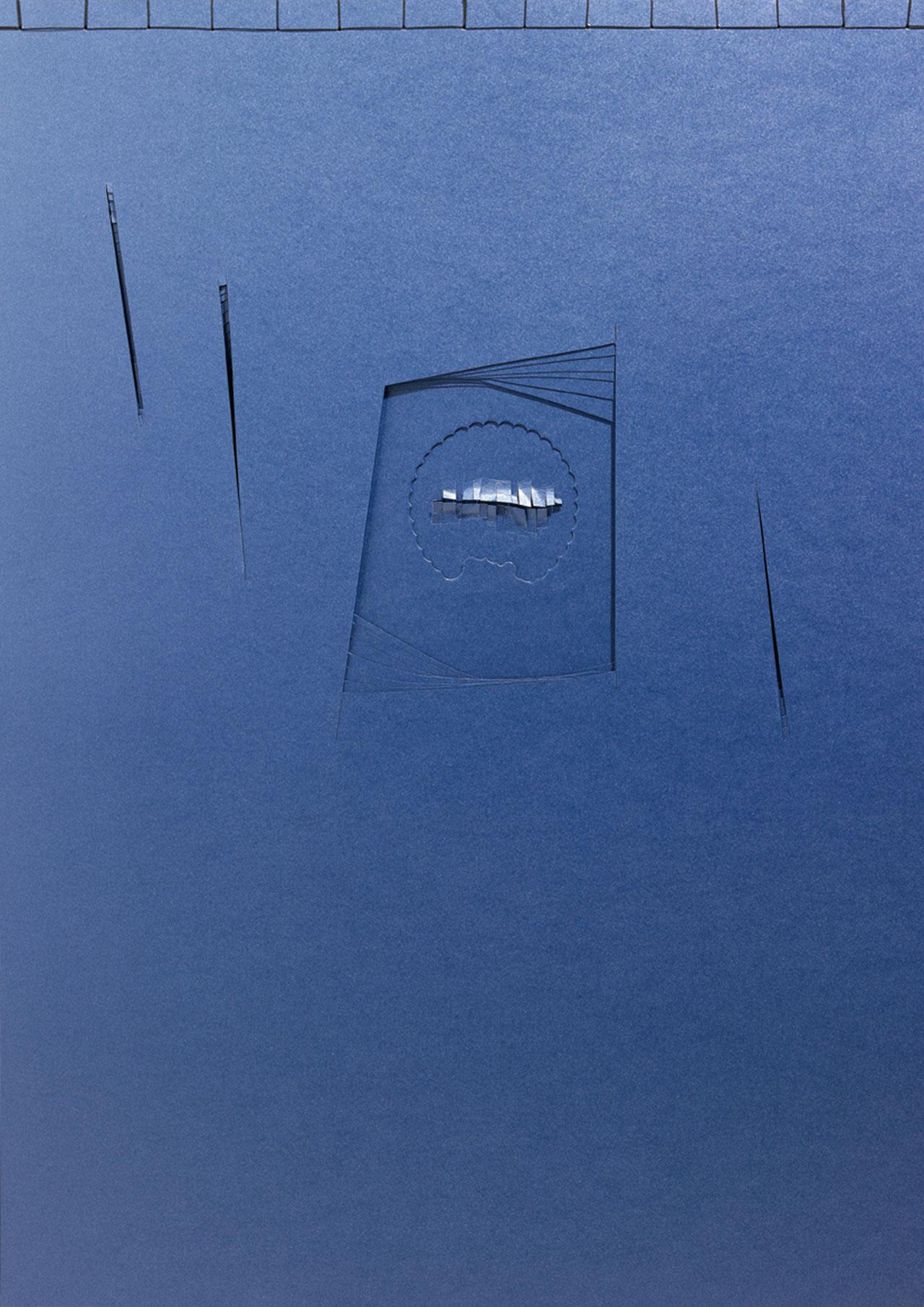 朱為白 天際外 冊頁紙雕 102x72cm