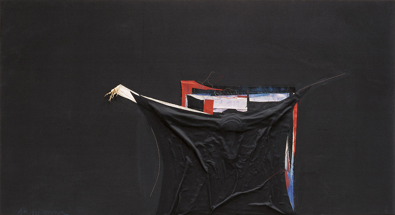 朱為白 行 綿、麻 91.5x168cm
