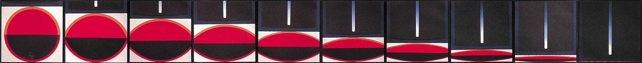 李錫奇 本位之六 版畫 45x450cm