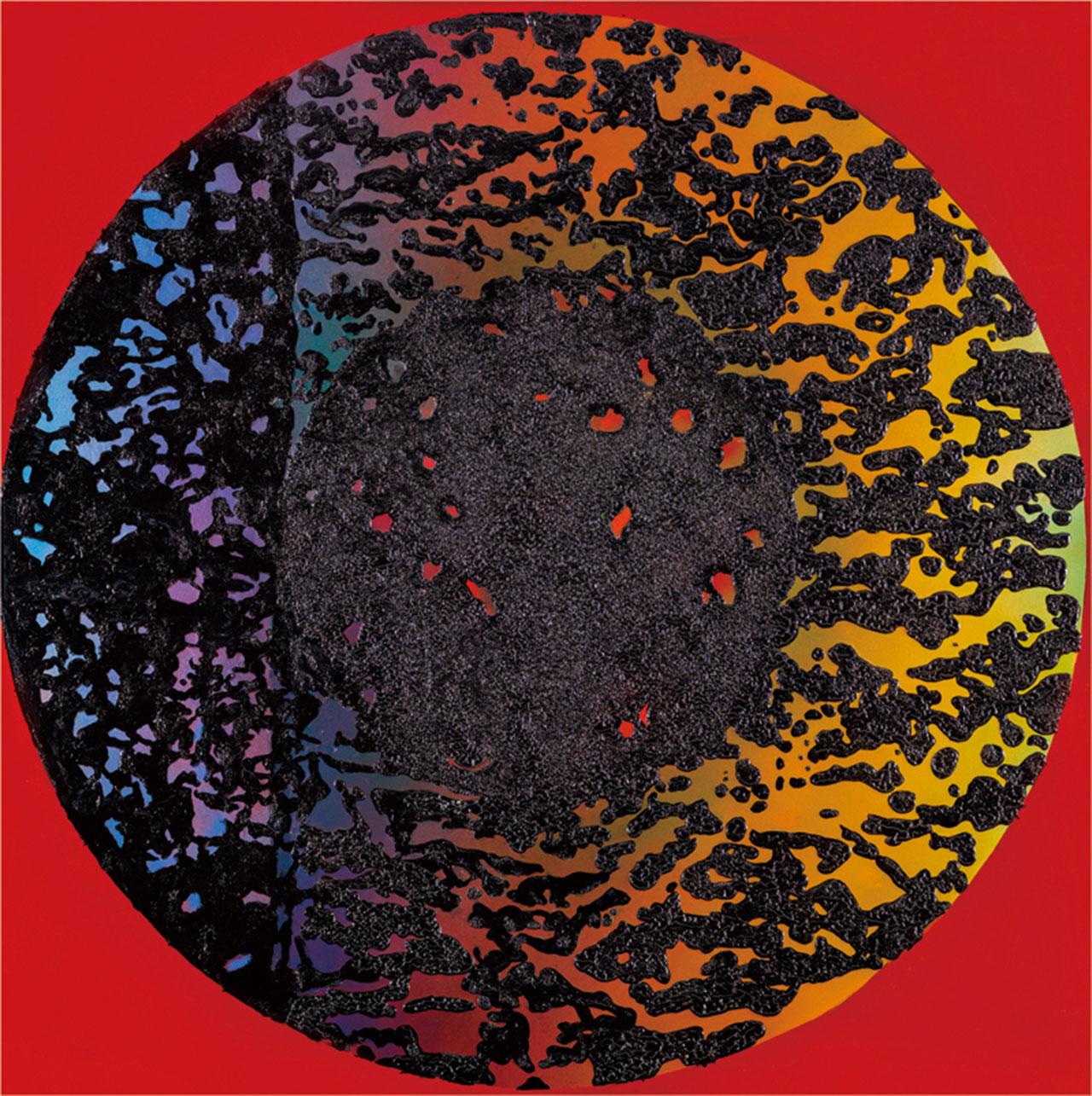 李錫奇 漢采本位11 漆畫複合媒材 120x120cm