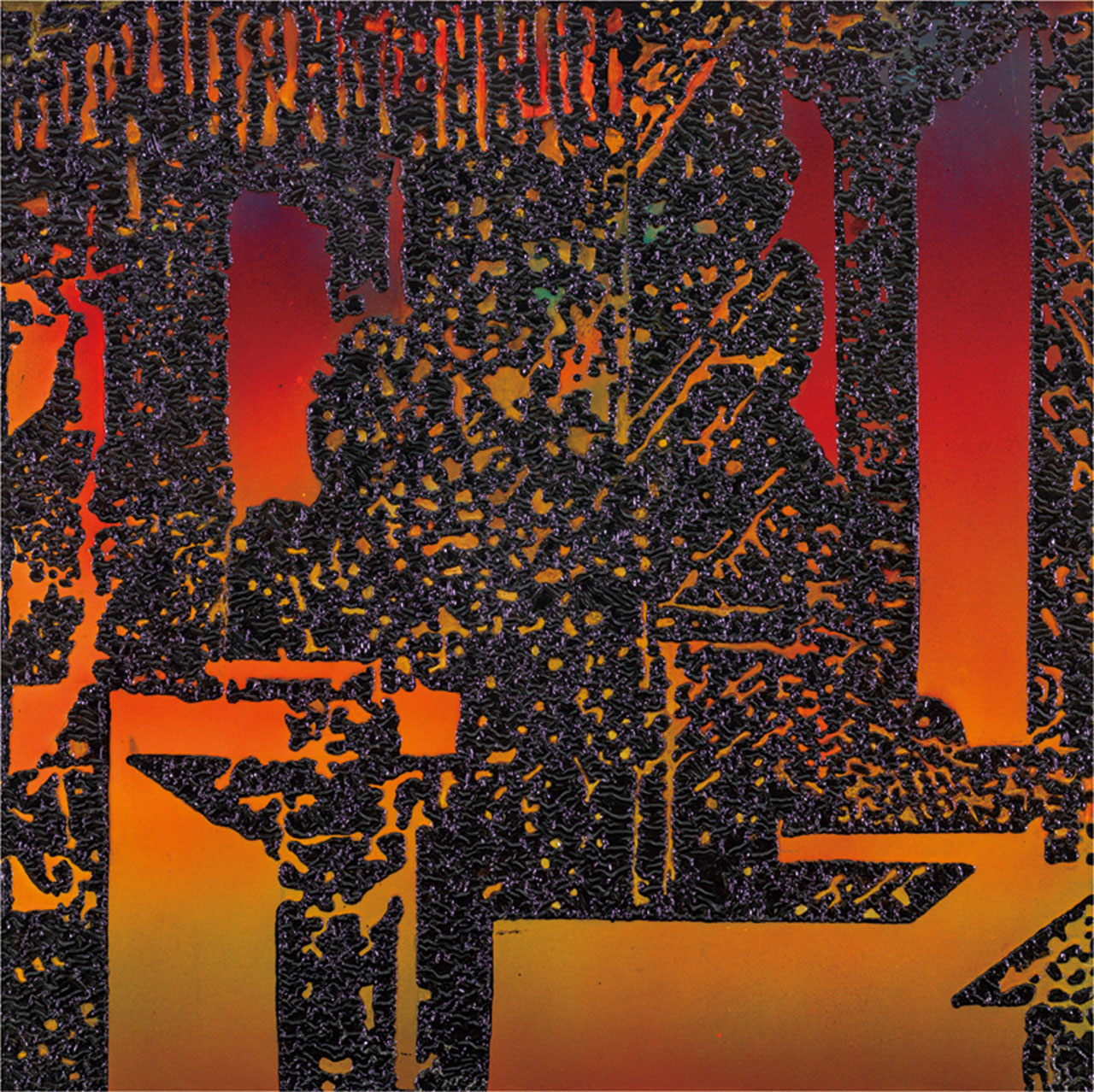 李錫奇 漢采本位1 漆畫複合媒材 100x100cm