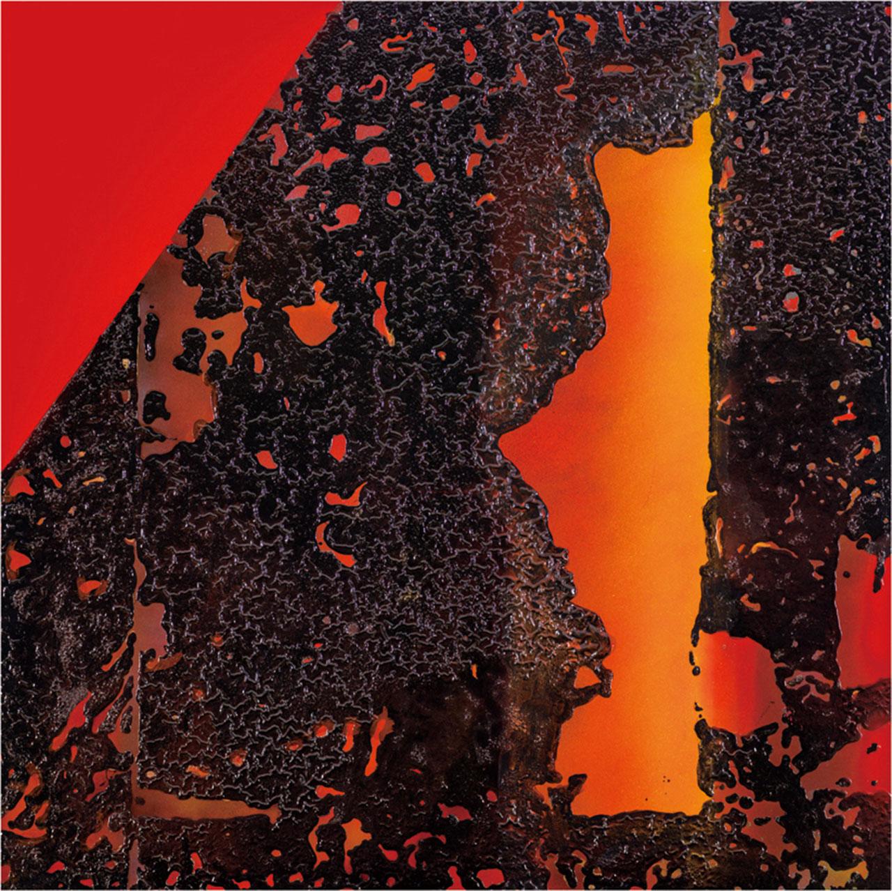 李錫奇 漢采本位9 漆畫複合媒材 120x120cm
