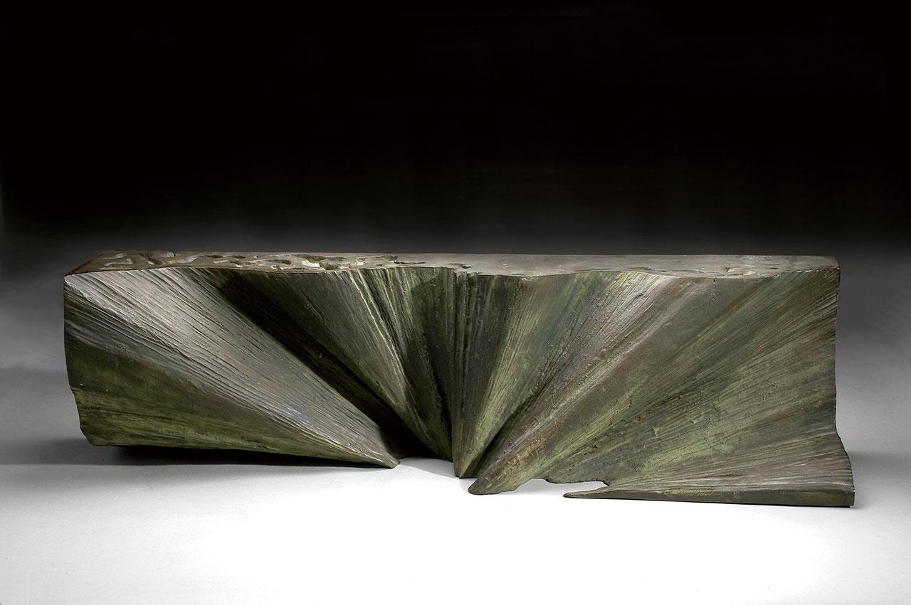 楊英風 山水 銅雕 25.5×96×22cm