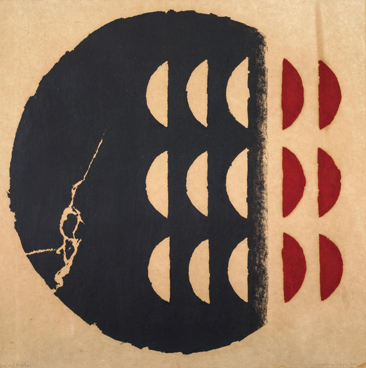 陳庭詩 晝與夜#11 版畫、紙本 93x93cm