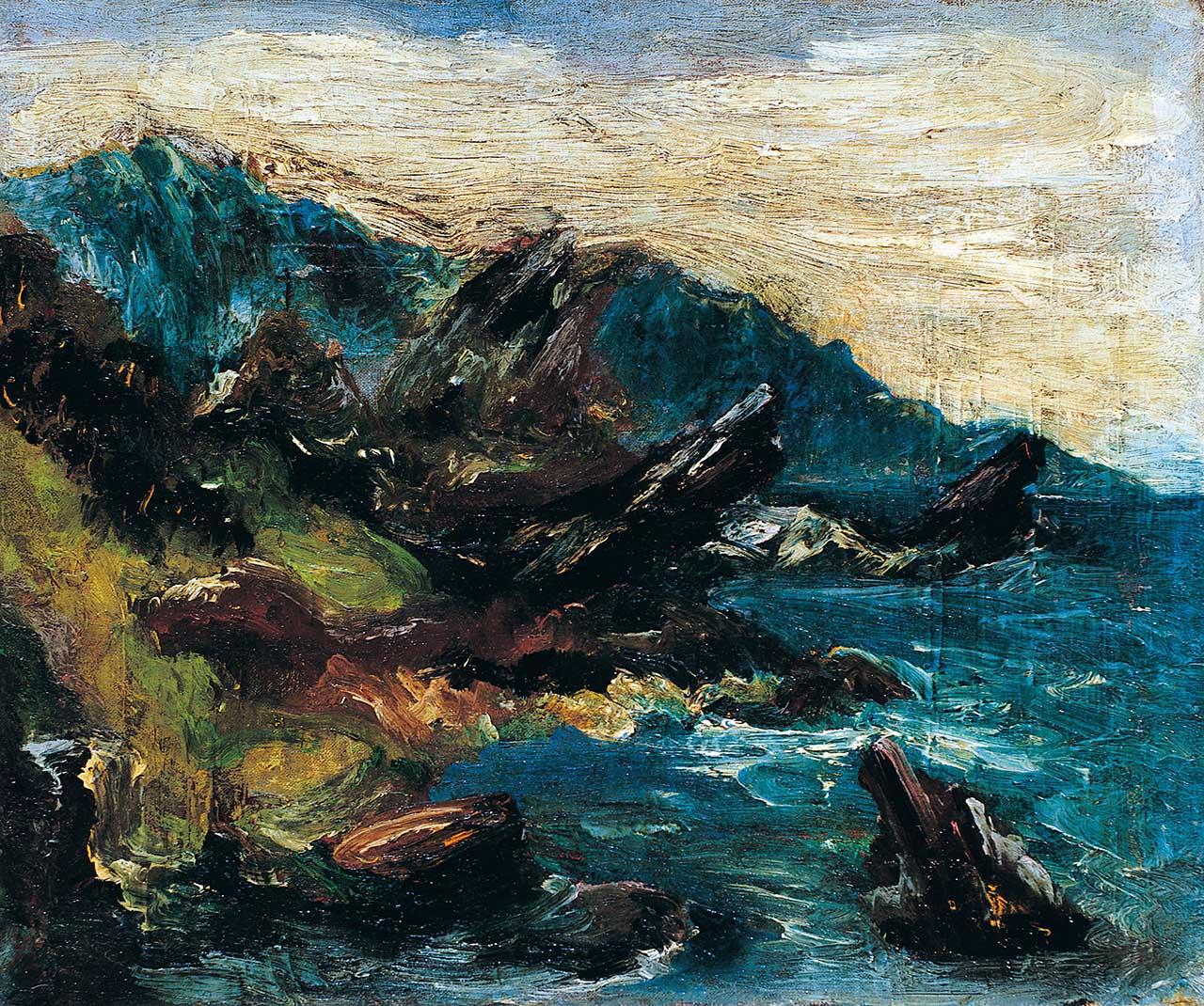 陳澄波 宜蘭海邊 油彩畫布 8F