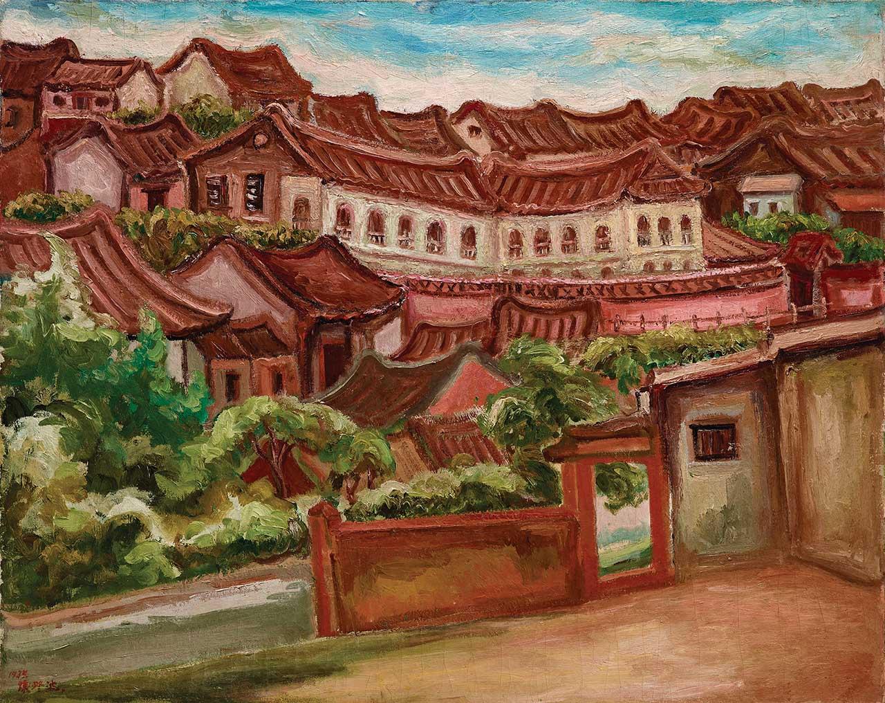 陳澄波 淡水風景(二)油彩畫布 30F