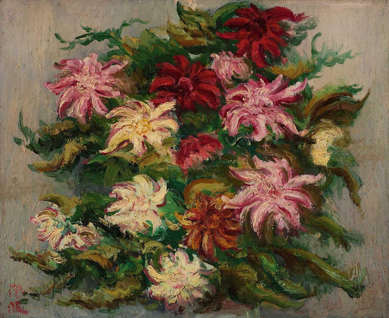 陳澄波 綻放花朵 37.5x46 8F