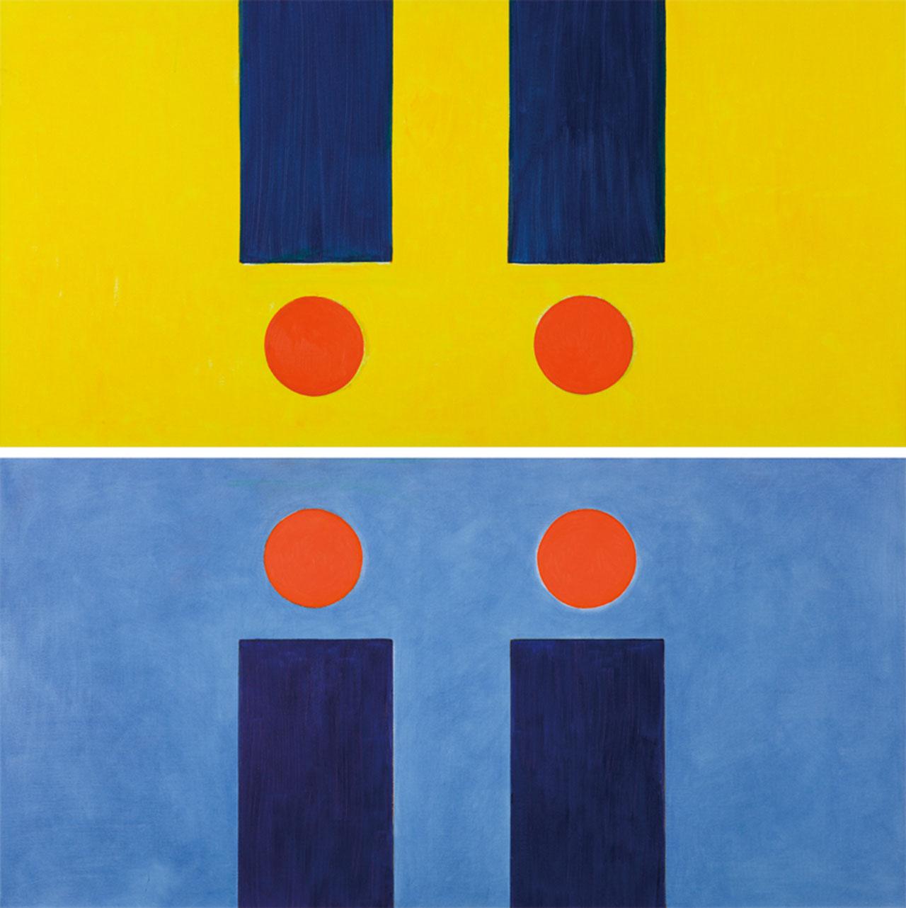 霍剛 承合3-1,3-2 油彩畫布 107x200cmx2(214號)