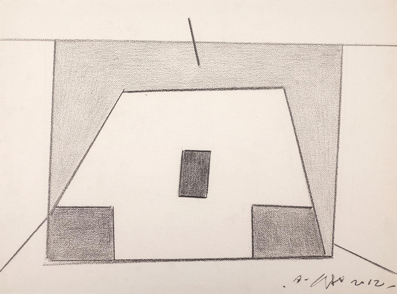 霍剛 無題11 鉛筆紙 52x65cm