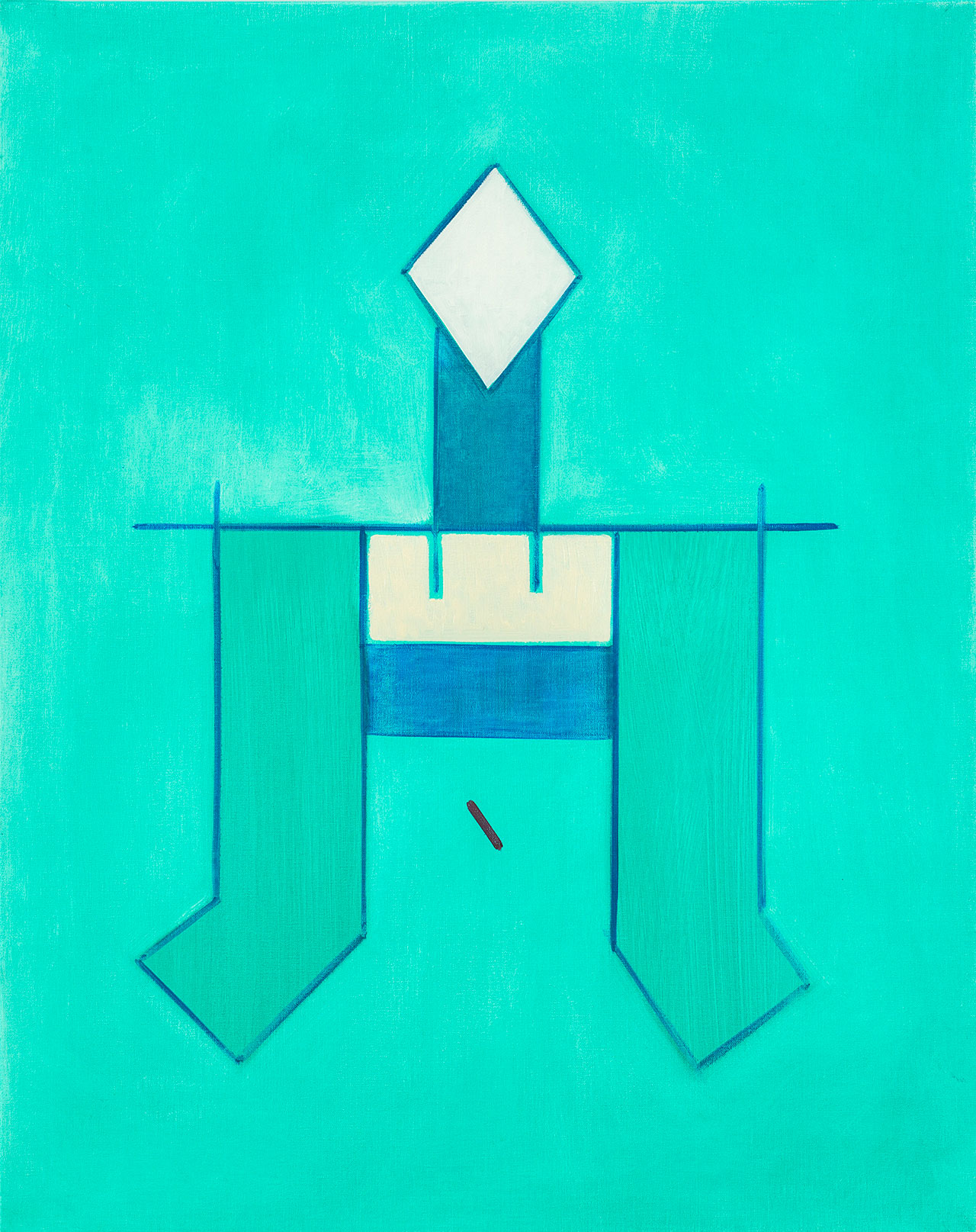 霍剛 無題2 油彩畫布 92.5x71.5cm(30F)