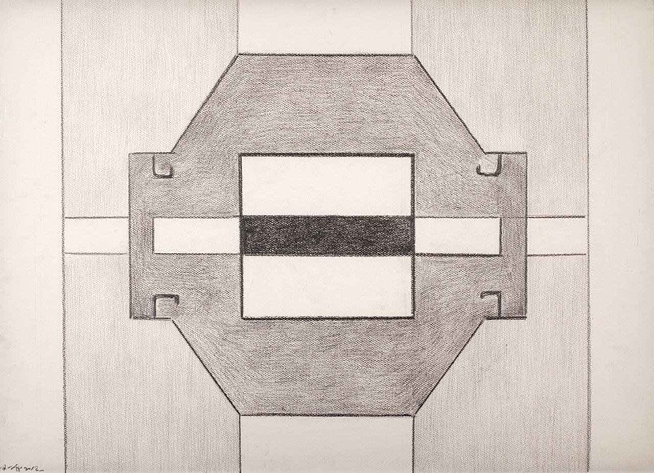 霍剛 無題7 鉛筆紙 72x101cm