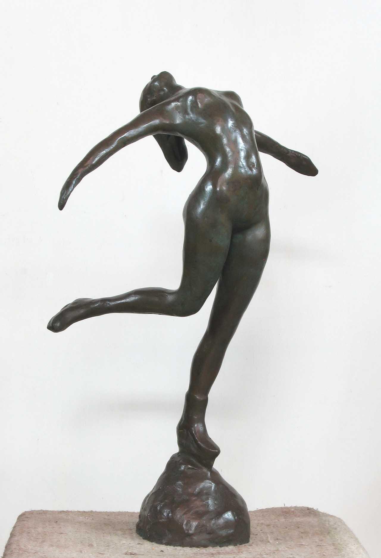 蒲添生 運動系列-1 青銅 60x38x23cm