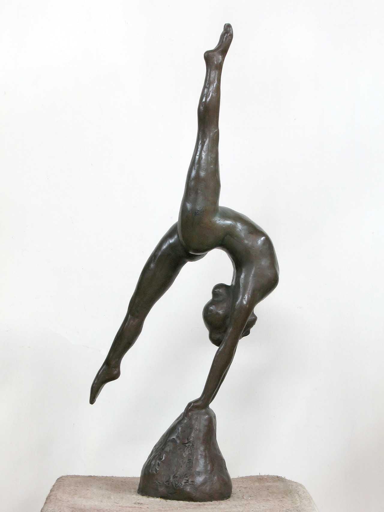 蒲添生 運動系列-6 青銅 78x32x15cm