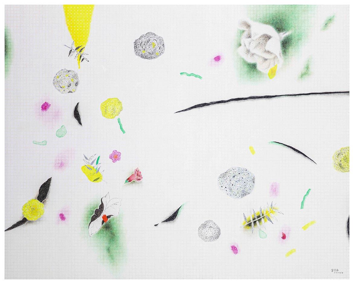 金芬華 自在飛花 油彩畫布 130x162cm