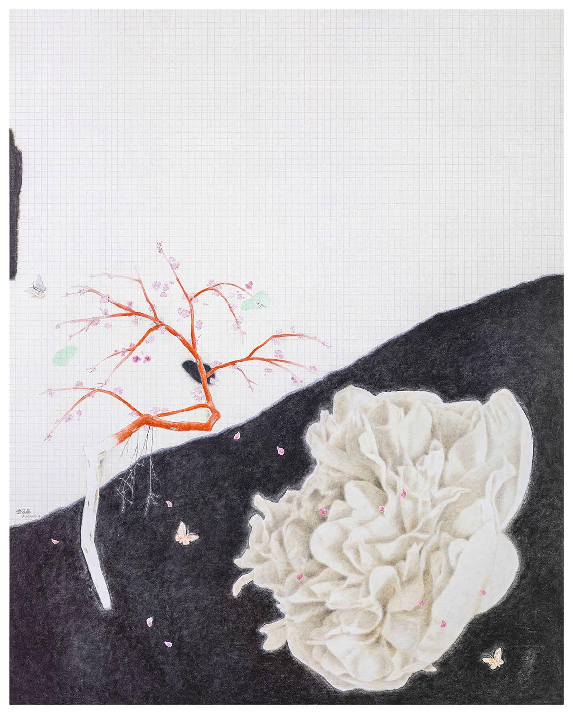 金芬華 冬 油彩畫布 162x130cm