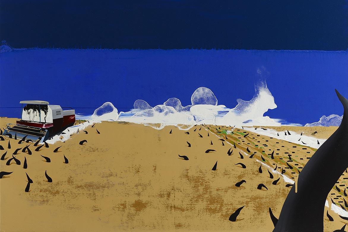 周代焌 全球寂靜024-皮層的風景 壓克力、畫布 140x140cm