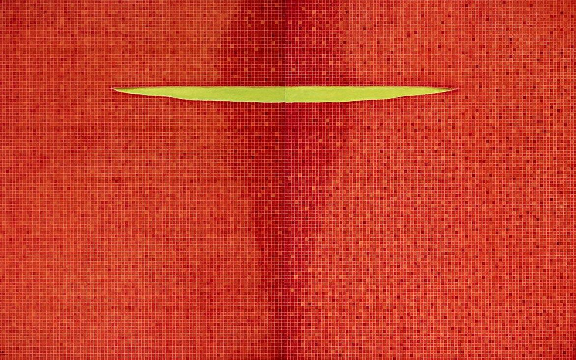 金芬華 理性紅與感性紅 油彩畫布 162x260cm x2
