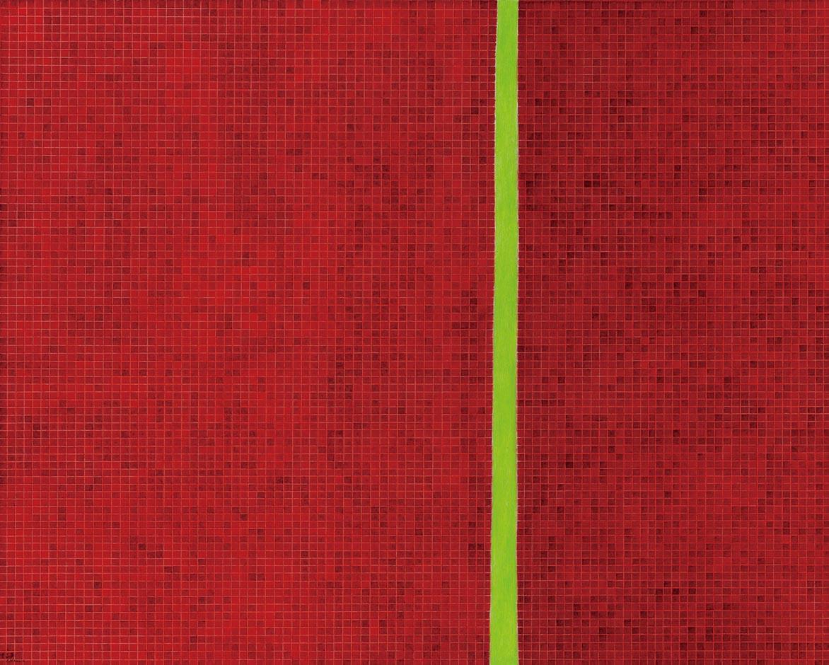 金芬華 紅之一 油彩畫布 130x162cm