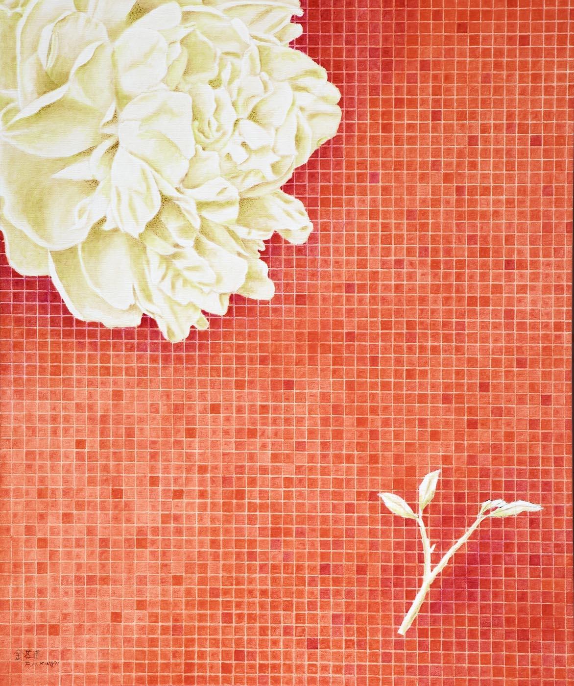 金芬華 紅調 油彩畫布 72.5x60.5cm