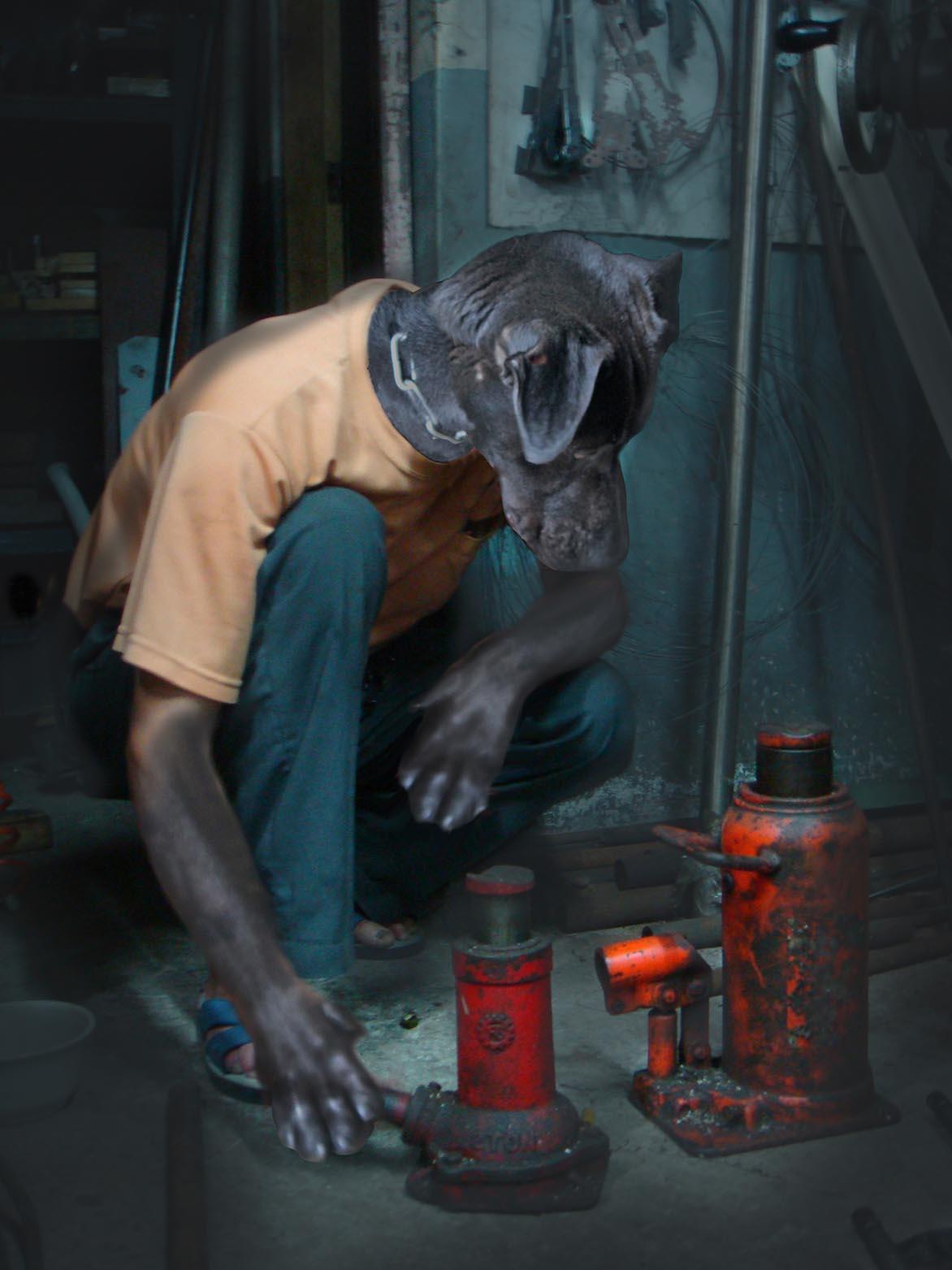 陳依純 小黑在工廠中的一輩子 有聲彩色錄像
