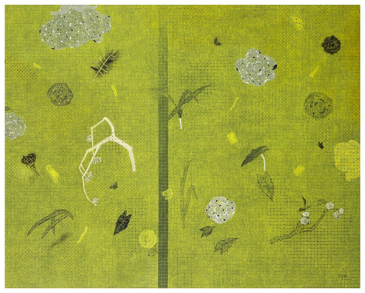 金芬華 遊園 油彩畫布 130x162cm